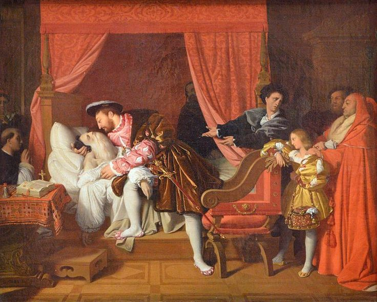 10. Francisco I asiste al último suspiro de Leonardo da Vinci