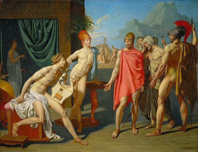 3. Aquiles recibe a los embajadores de Agamenón