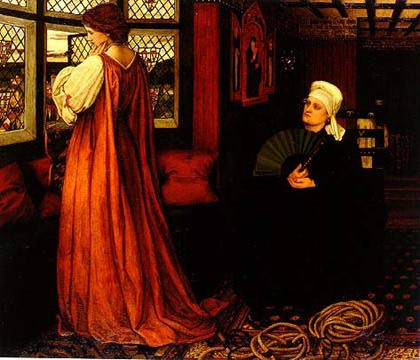 6. Julieta y su ama, John Roddam Spencer Stanhope, 1860