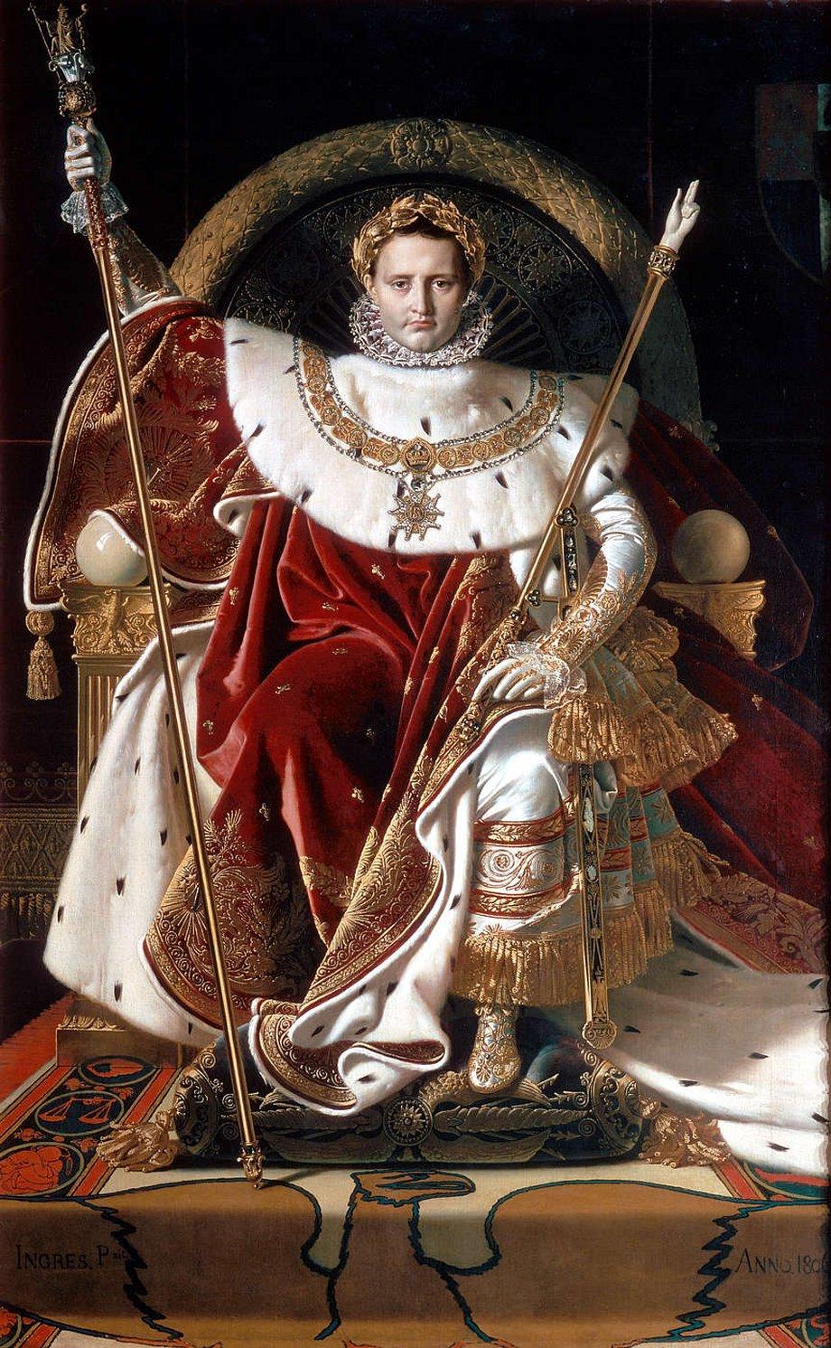 6. Napoleón I en su trono imperial