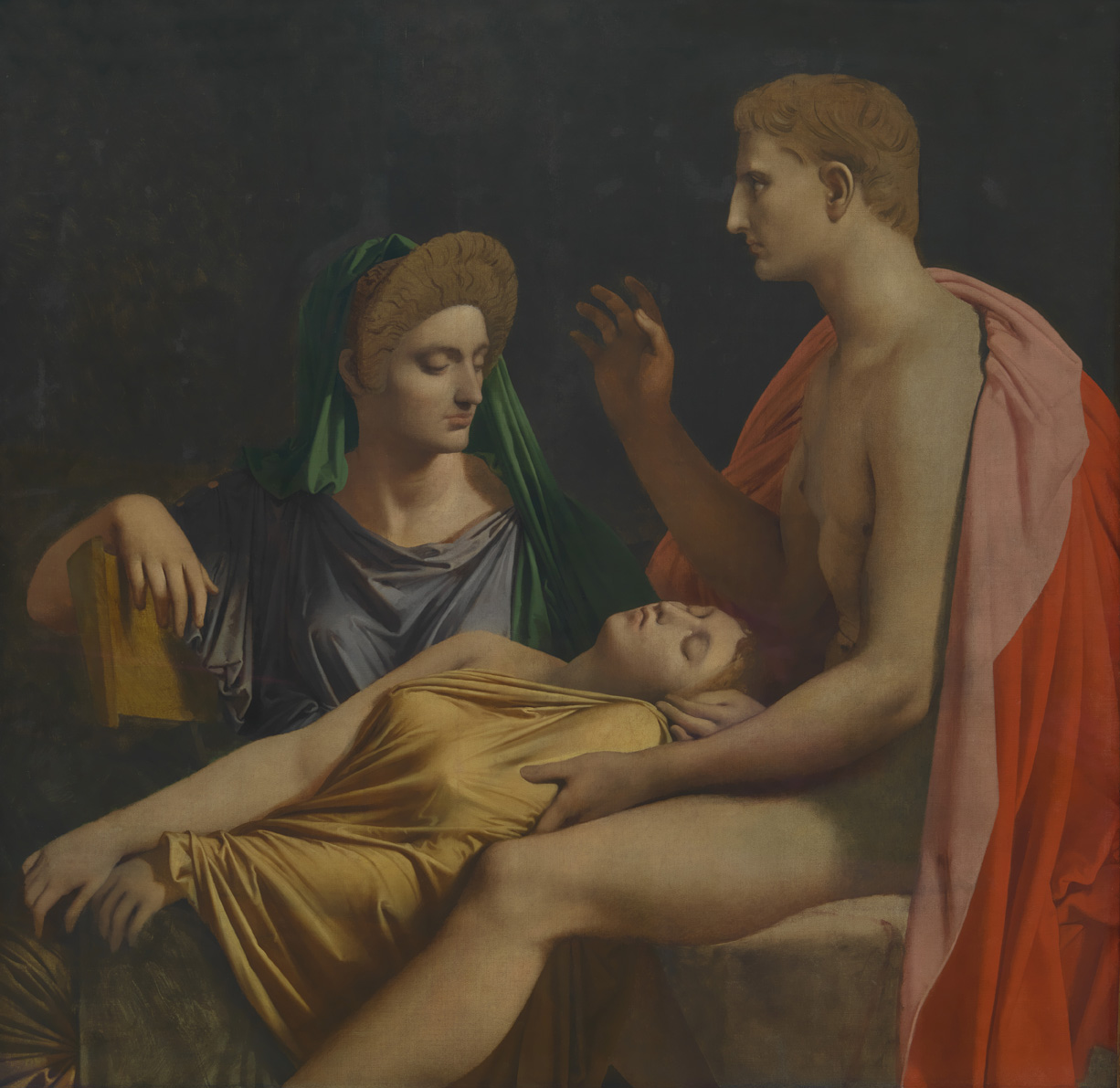 9. Virgilio lee la Eneida ante Augusto, Octavia y Livia