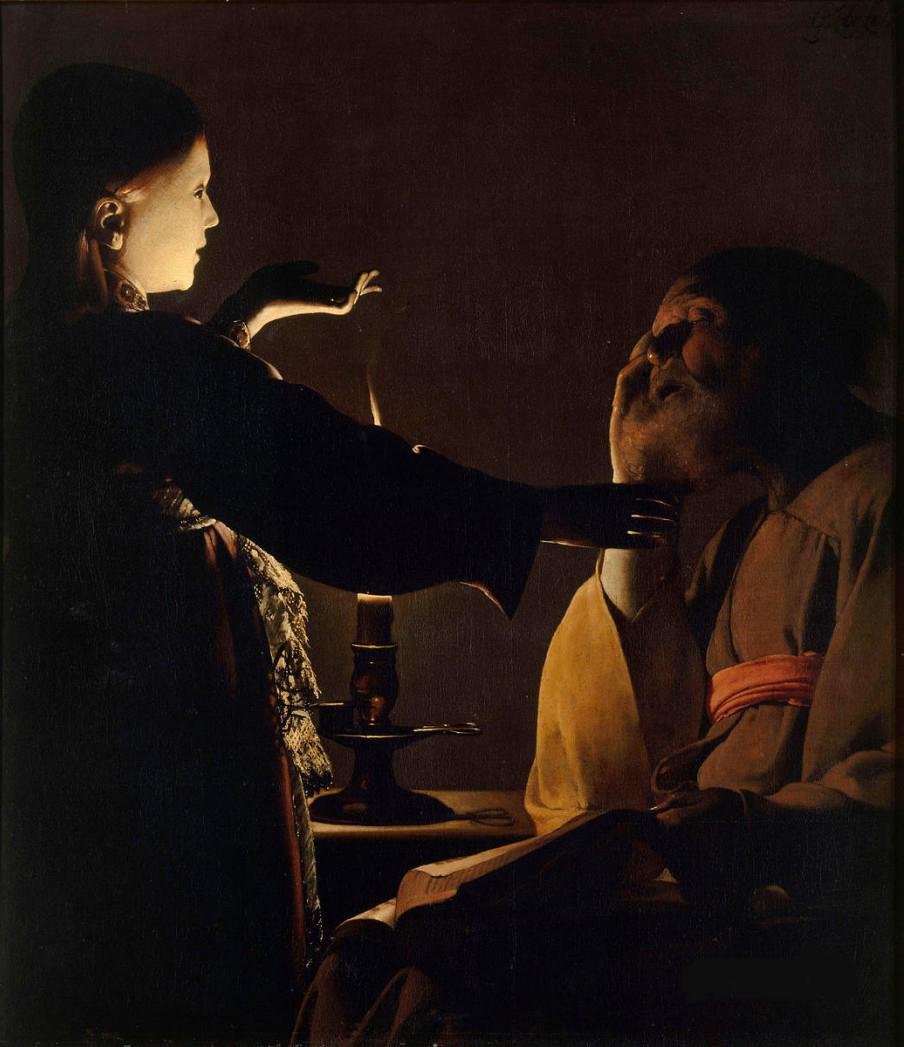 11. Aparición del ángel a San José, De La Tour