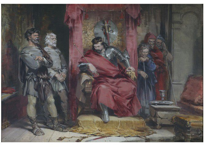 11. Macbeth instruye a los asesinos para matar a Banquo, George Cattermole, 1850