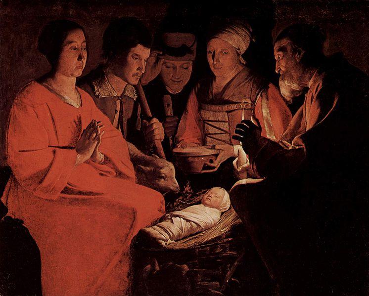 12. La Adoración de los pastores, De La Tour