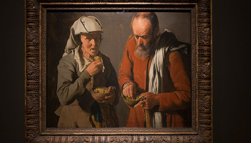 2. Comedores de guisantes, De La Tour