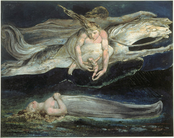 7. Lástima (Pity), William Blake, 1795