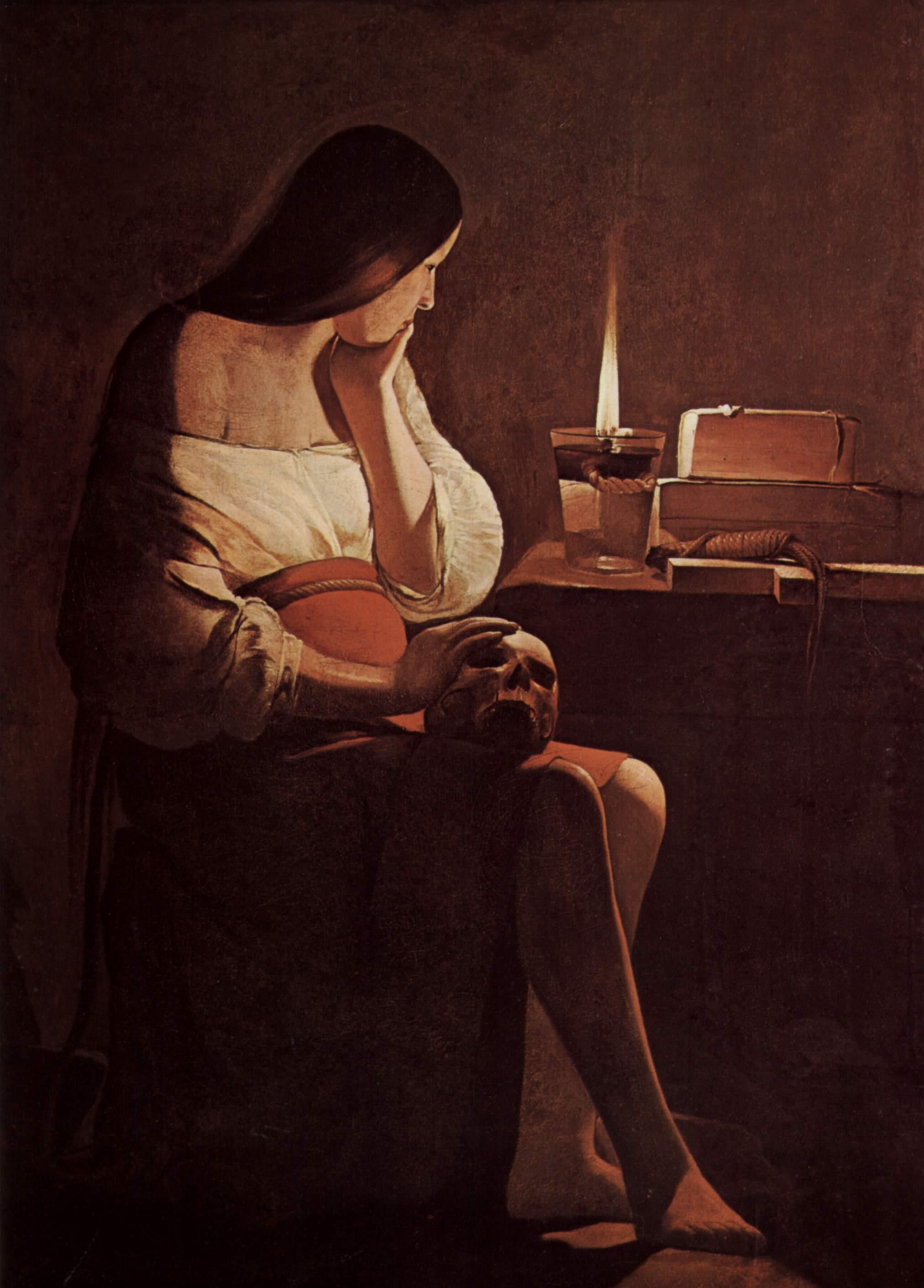 8. La Magdalena penitente, De La Tour
