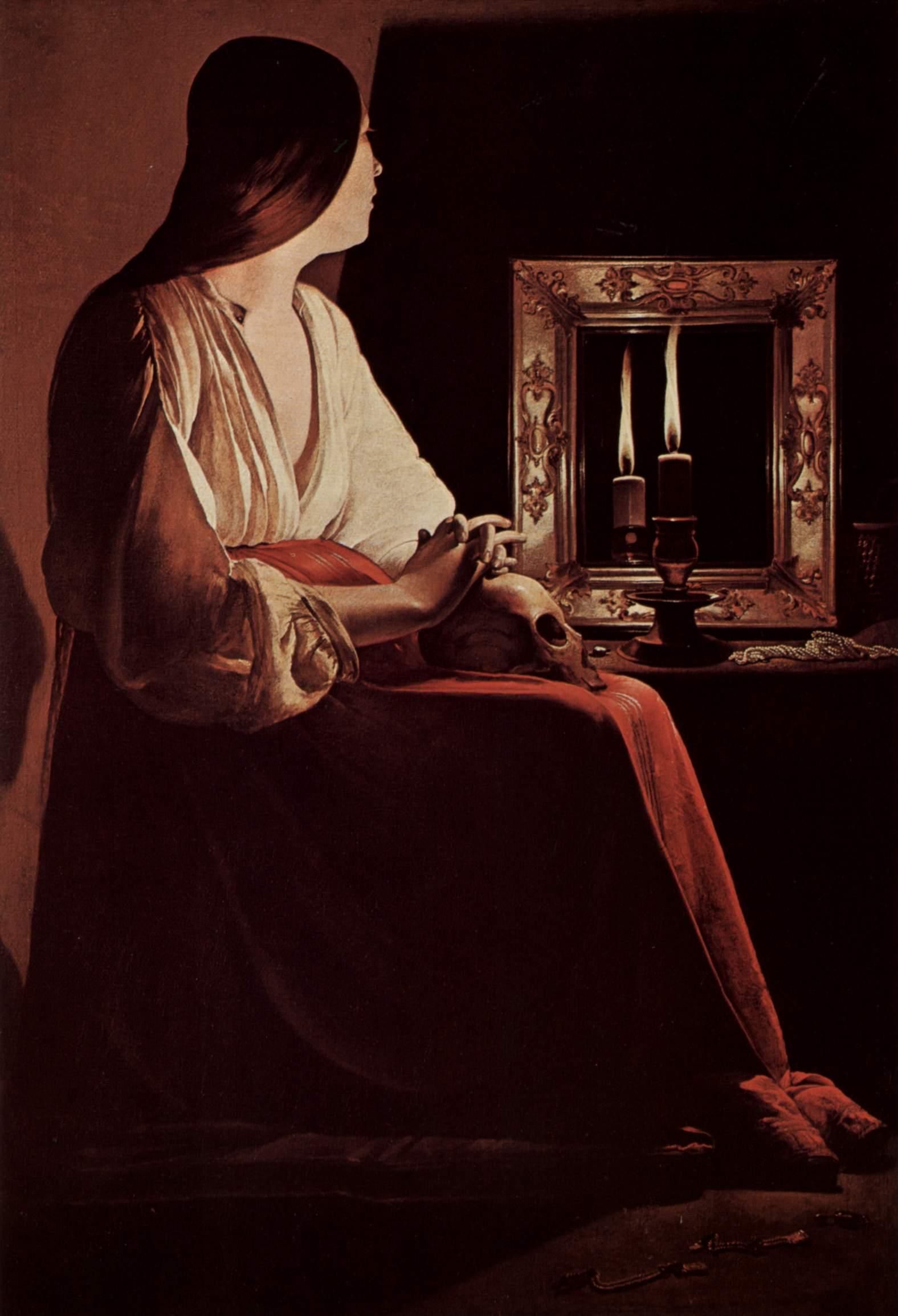 9. La Magdalena penitente del espejo, De La Tour