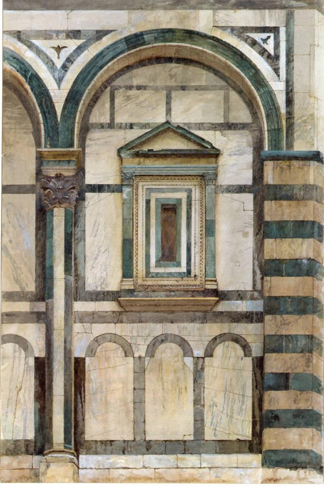 Compartimento del Baptisterio de Florencia, Ruskin