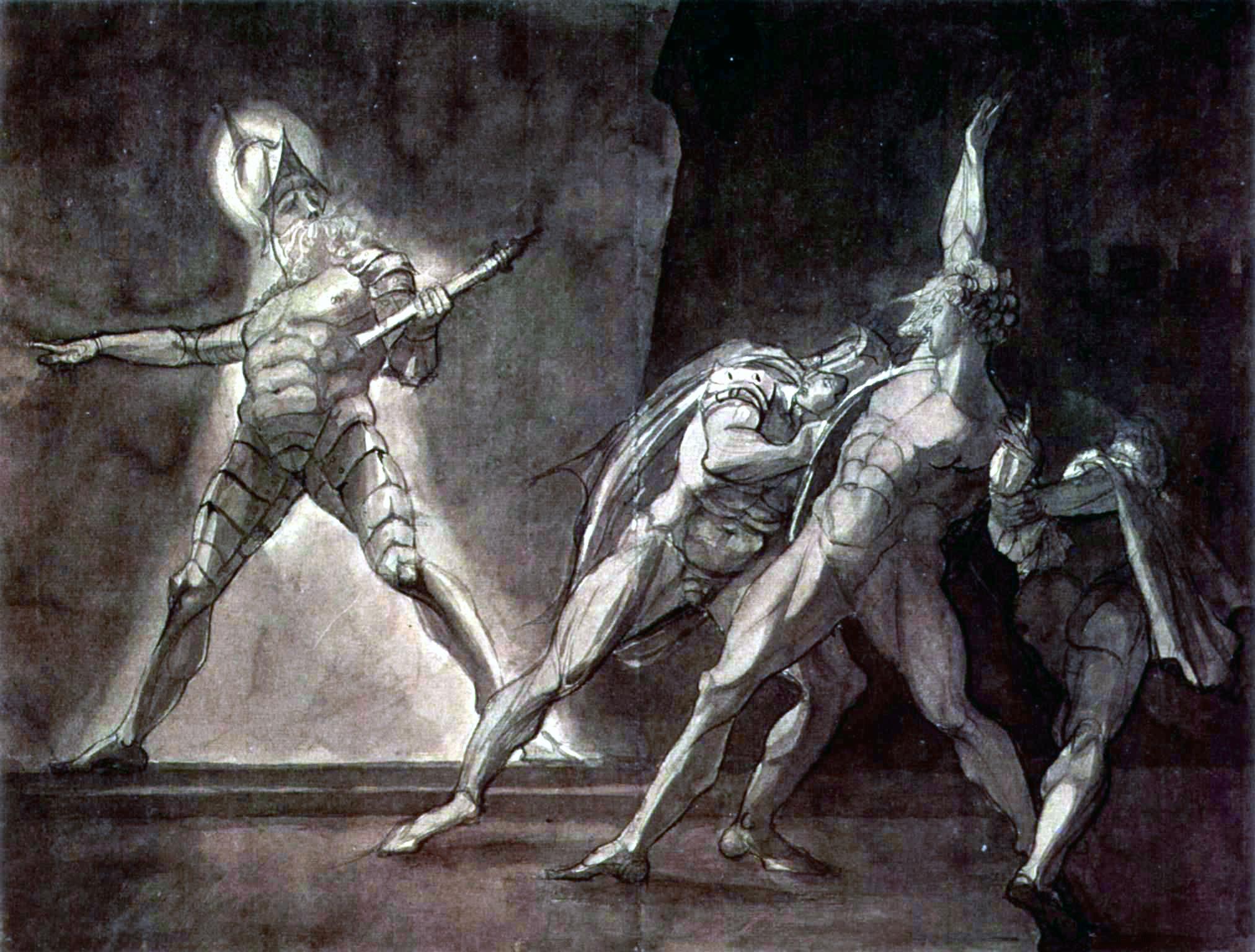 3. Fuseli, Hamlet y el fantasma de su padre, 1780-5