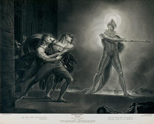 4. Fuseli, Hamlet y el fantasma de su padre, 1796
