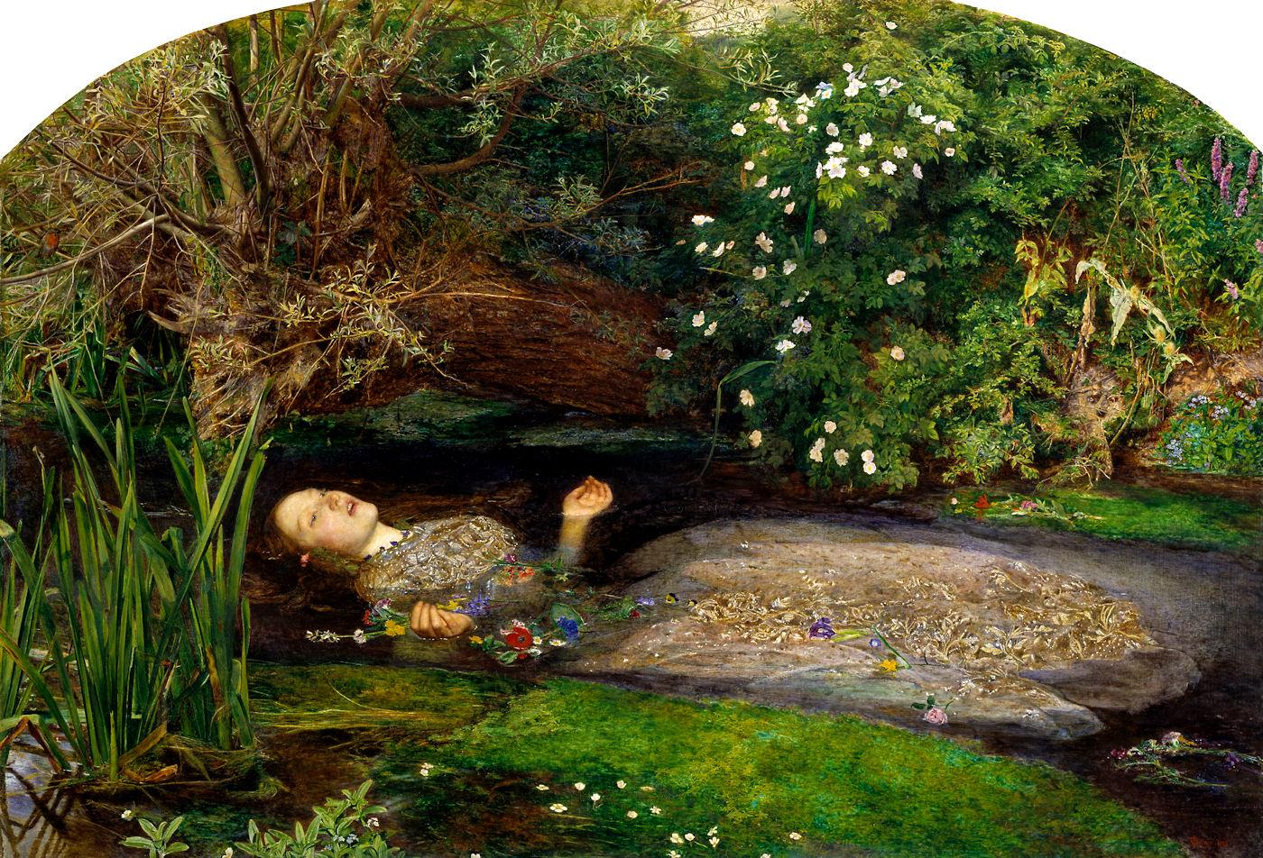 7. John Everett Millais, Ofelia, 1852