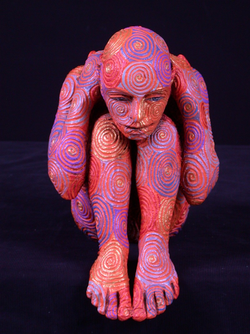 04-Evoluzioni (Evolution), 2006, painted bronze, edition 2-8, height 11 inches.