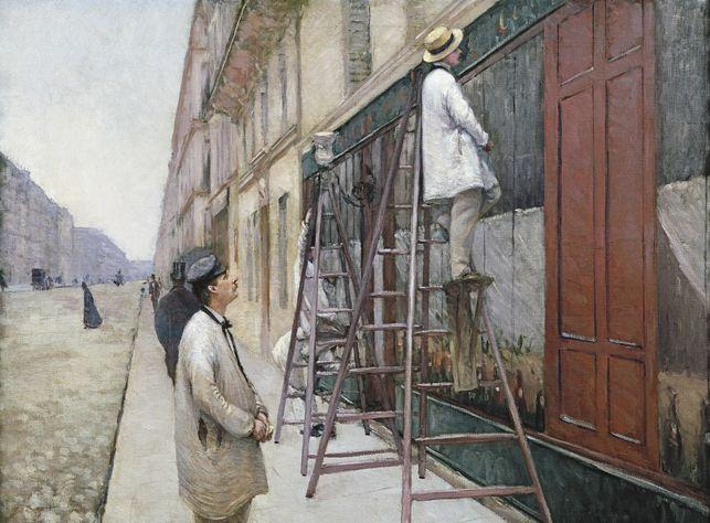 5. Pintores en un edificio, Caillebotte