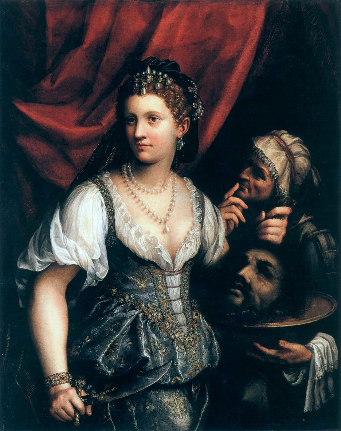 7. Judith con la cabeza de Holofernes