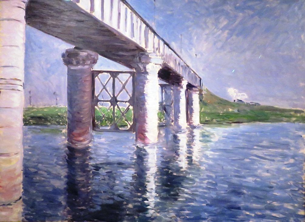 9. El Sena y el puente del ferrocarril de Argenteuil