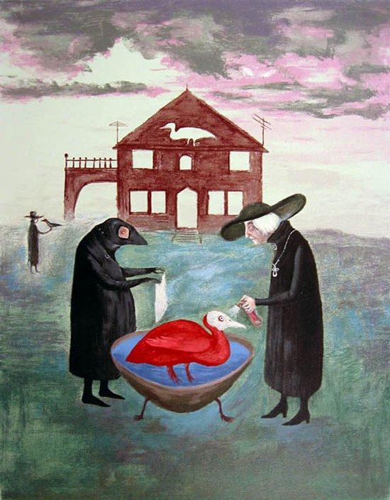 7. El baño de los pájaros, Leonora Carrington