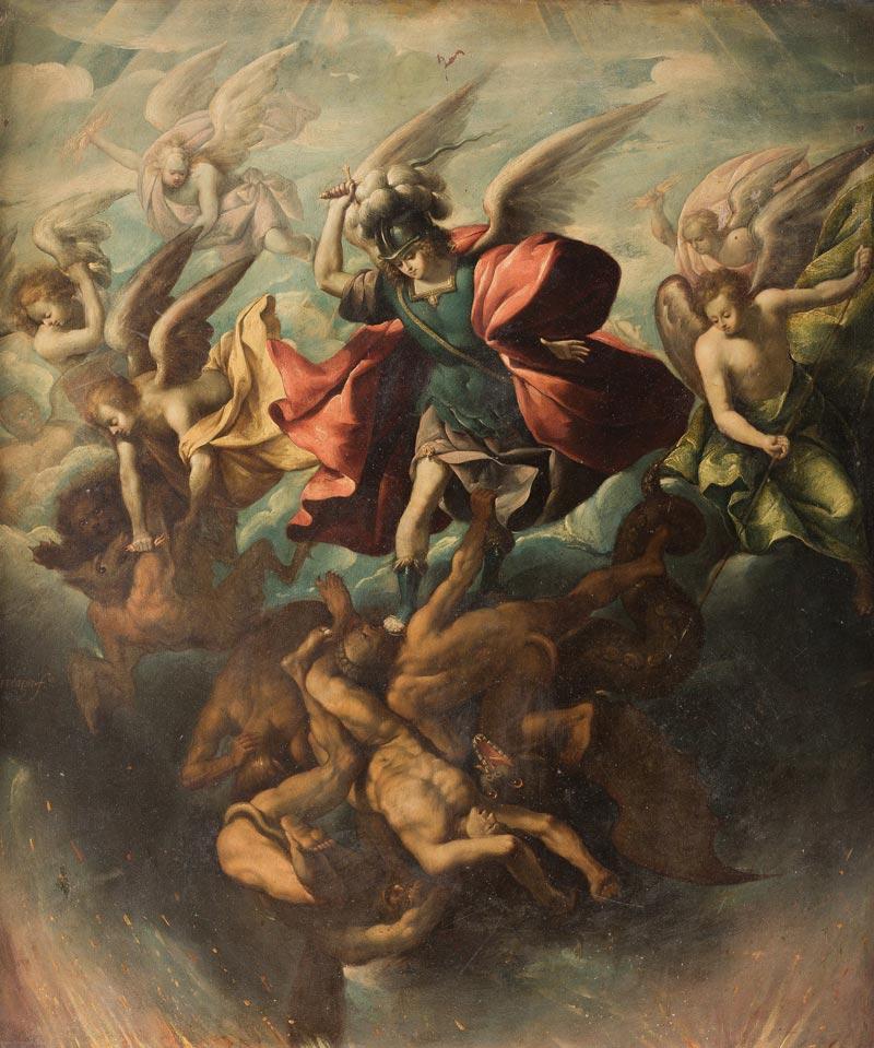 11. Sebastián López de Arteaga, La caída de los ángeles rebeldes