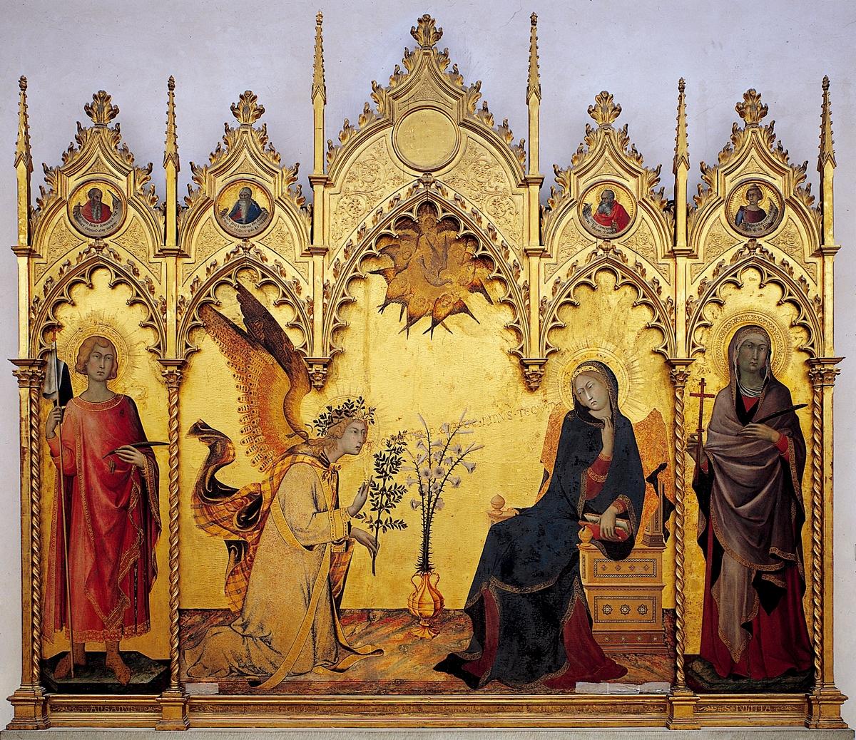 10. Simone Martini y Lippo Memmi, Anunciación