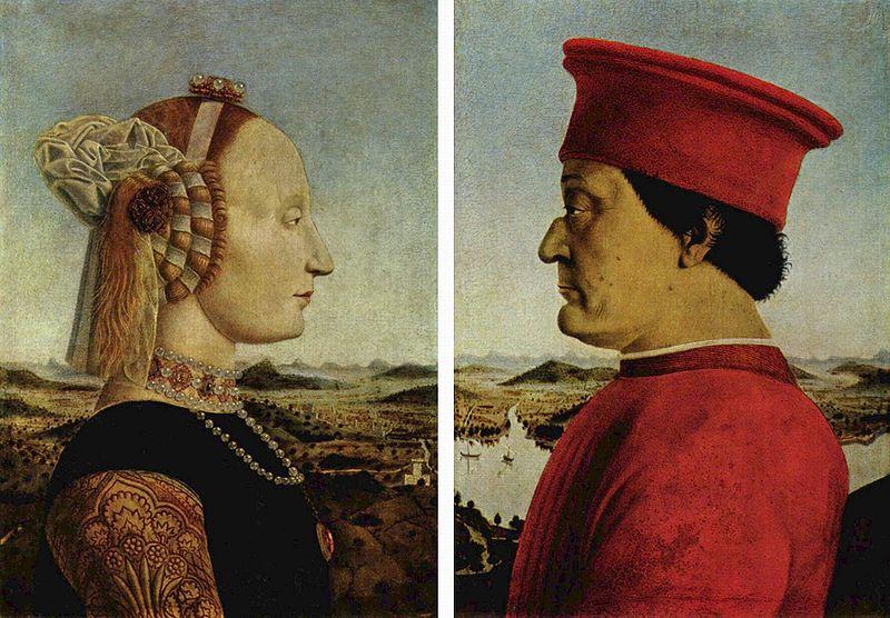 12. Piero della Francesca, Díptico de los duques de Urbino