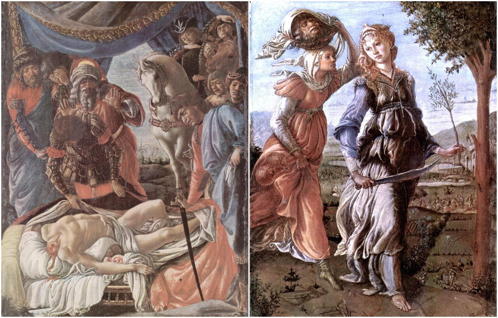 13. Sandro Botticelli, El descubrimiento del cadáver de Holofernes