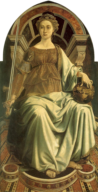 14. Piero del Pollaiolo, La Justicia
