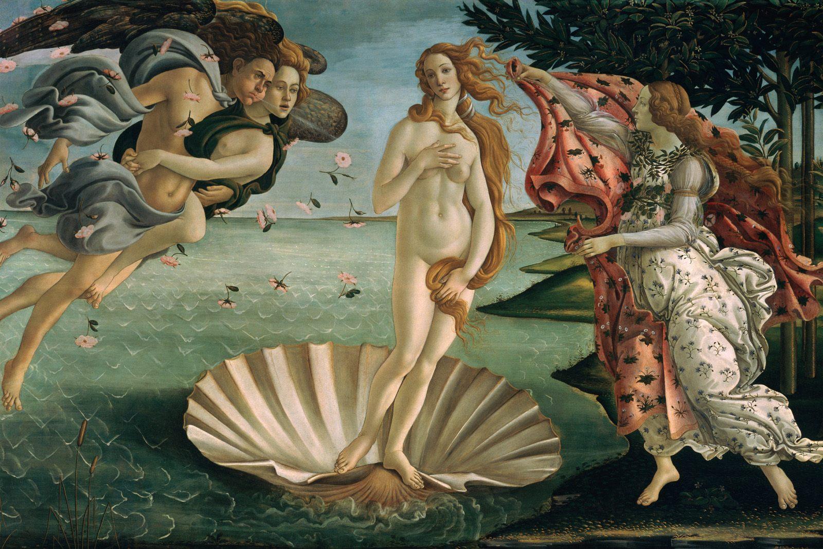 15. Sandro Botticelli, El nacimiento de Venus