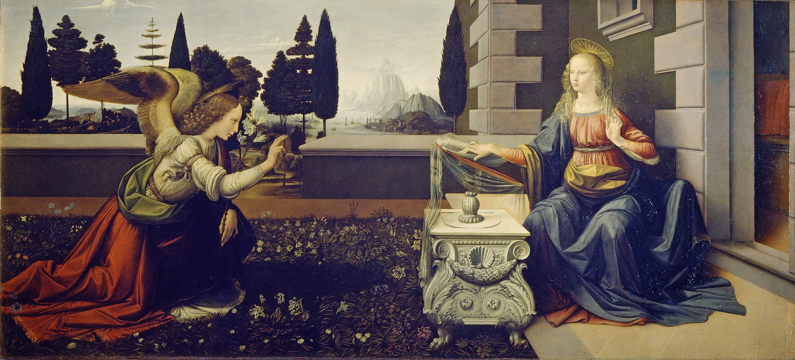 20. Leonardo da Vinci, Anunciación