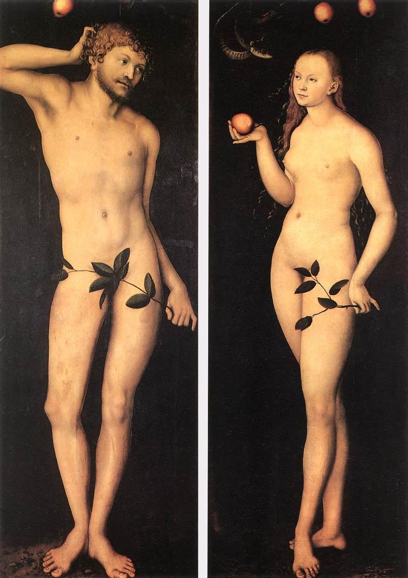 23. Lucas Cranach el Viejo, Adán y Eva