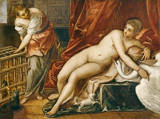 27. Jacopo Tintoretto, Leda y el cisne