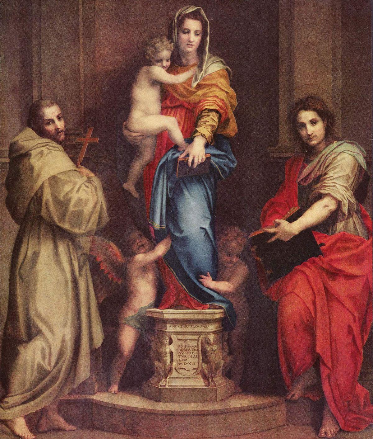 30. Andrea del Sarto, Virgen de las Arpías