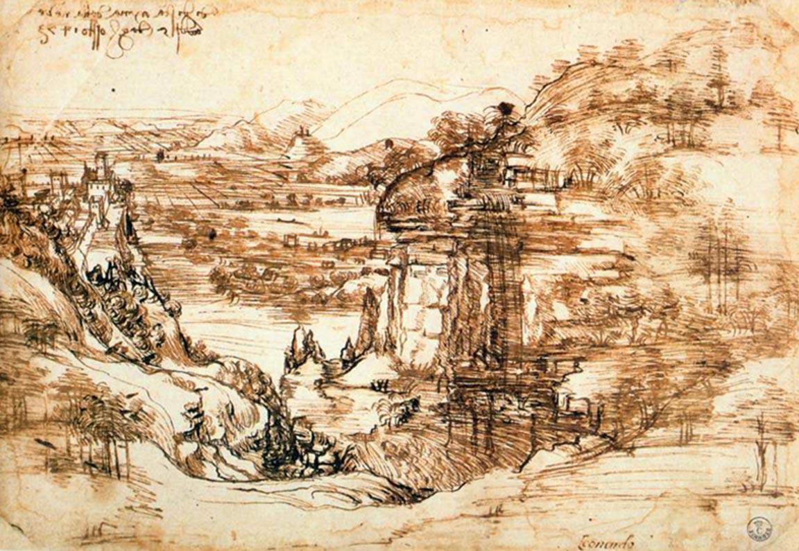 5. Leonardo da Vinci, Paisaje