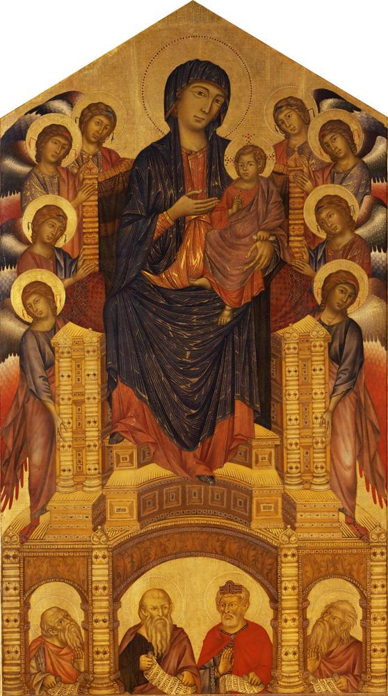 8. Cimabue, Virgen en Majestad de Santa Trinità